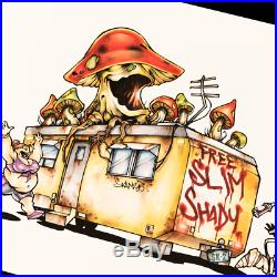 Trailer Illustration Fine Art Print Skam2 With Eminem Autographed Coa Slim Shady