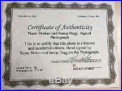 Tupac Shakur Autographed 8x10 Photo with COA Perfect