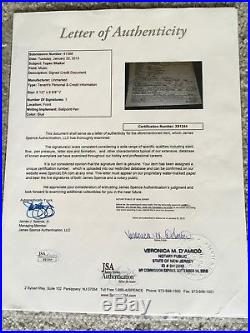 Tupac Shakur SIGNED Credit Card Application With JSA Certification COA Autograph