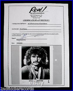 URIAH HEEP-Rare Autographed DAVID BYRON Promo Photograph with COA-ROUGH DIAMOND