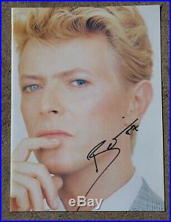 Ultra Rare Autograph of DAVID BOWIE Photo Hand Signed Collectible with COA
