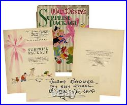 Walt Disney Signed 1st Edition Book with Vintage Signature & Phil Sears COA