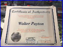 Walter Payton Autographed Chicago Bears Helmet with COA. Signed Sweetness withYds