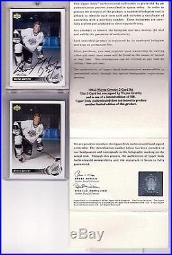 Wayne Gretzky Signed Upperdeck Uda Autograph 1992-93 Sp/500 #25 Auto With Ud Coa