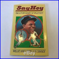 Willie Mays Signed Autographed Sey Hey Autobiography Book With PSA DNA COA