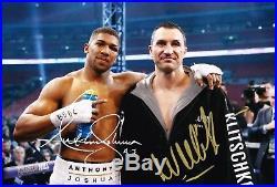 Wladimir Klitschko & Anthony Joshua SIGNED 12X8 Photo AFTAL COA WITH PROOF (C)