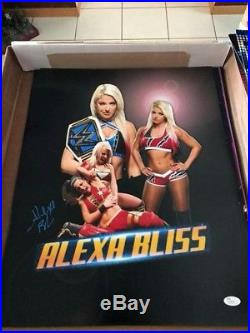 Wwe Alexa Bliss Hand Signed Autographed 16x20 Photo With Jsa Coa Sticker