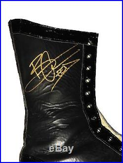 Wwe Baron Corbin Ring Worn And Hand Signed Wrestling Boots With Coa