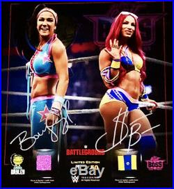 Wwe Bayley And Sasha Banks Hand Signed Limited Edition Plaque With Coa From Wwe