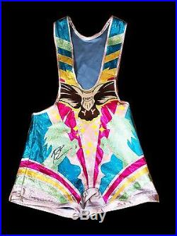 Wwe Big E The New Day Ring Worn And Hand Signed Wrestling Singlet With Coa Rare