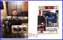 Wwe Finn Balor Hand Signed Demon Funko Pop 38 Action Figure With Proof And Coa