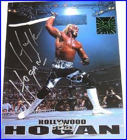 Wwe Hulk Hogan Ring Worn Signed Black Tye Dye Tights With Photo Proof And Coa