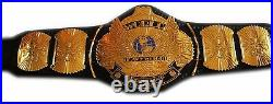 Wwe Hulk Hogan Signed Winged Eagle World Heavyweight Belt With Proof And Coa