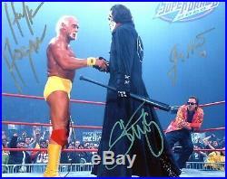 Wwe Hulk Hogan Sting Jimmy Hart Hand Signed Autographed 8x10 Photo With Coa