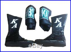 Wwe Karl Anderson Ring Worn Full Set Wrestling Tights Jacket Boots Pads With Coa