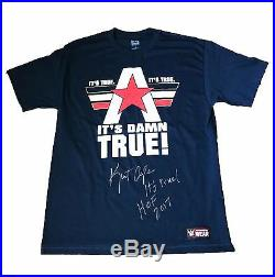 Wwe Kurt Angle Hand Signed Autographed T-shirt Large With Picture Proof And Coa