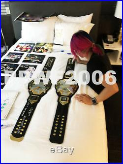 Wwe Nxt Asuka Hand Signed Autographed Adult Size Womens Belt With Proof And Coa