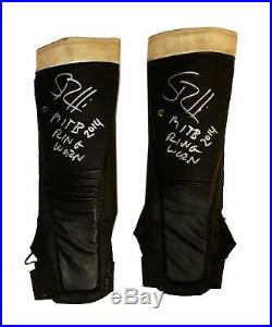 Wwe Seth Rollins Ring Worn Money In The Bank 2014 Hand Signed Kickpads With Coa