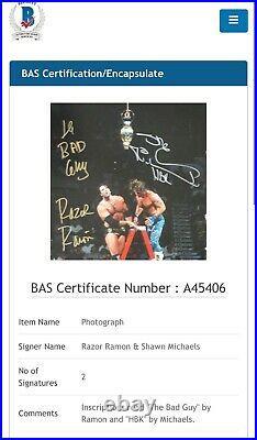 Wwe Shawn Michaels And Razor Ramon Hand Signed 16x20 Photo With Beckett Loa Coa