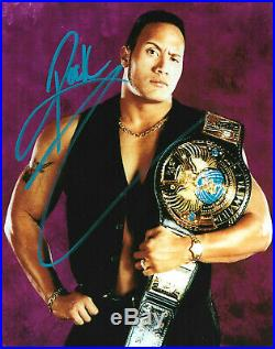 Wwe The Rock Hand Signed Autographed 8x10 Photo With Coa Very Rare 22