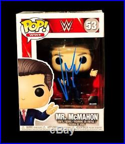 Wwe Vince Mcmahon Hand Signed Autographed Pop #53 Toy Action Figure With Coa