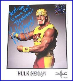 Wwe Wcw Hulk Hogan Signed Promo Photo With Coa From Hulk Himself 13