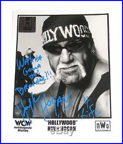 Wwe Wcw Hulk Hogan Signed Promo Photo With Coa From Hulk Himself 14
