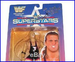 Wwe Wwf Bone Crunching Action Owen Hart Hand Signed Toy Action Figure With Coa
