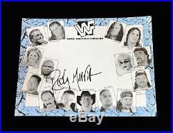 Wwe Wwf Rocky Maivia Hand Signed Autographed Promo Photo With Coa The Rock