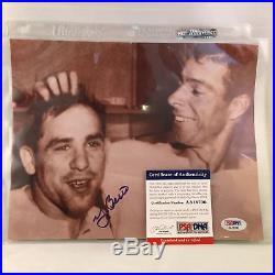 Yogi Berra Signed Autographed 8x10 Photo With Joe DiMaggio PSA DNA COA